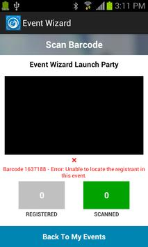 Event Wizard Attendee Scanner apk screenshot