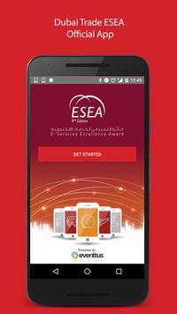 E-Services Excellence Award poster