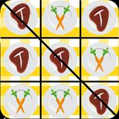 Meat vs Veggie Tic Tac Toe icon