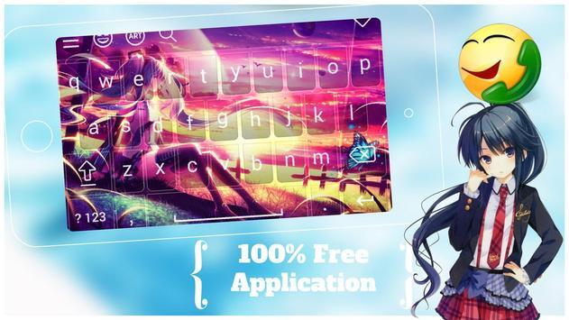 Girls Anime Keyboard Emoji Apk Screenshot