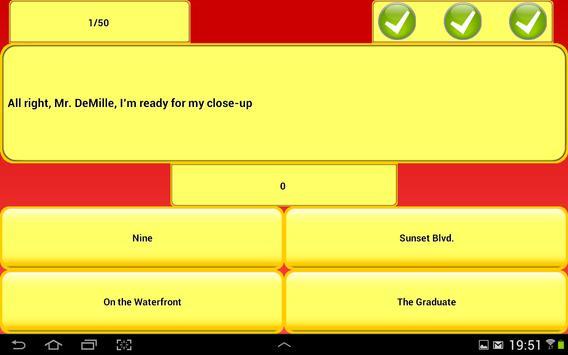 Movie Quote Trivia - Free apk screenshot