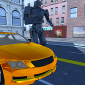 Golden Cyborg Robot icon