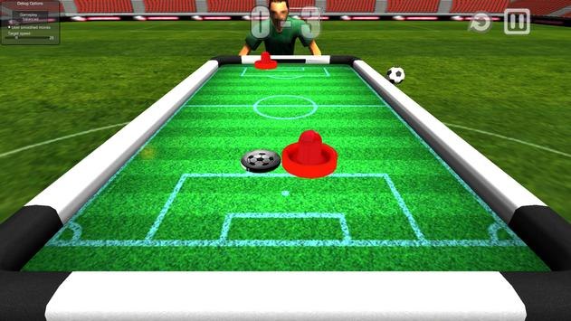 Air soccer challenge poster