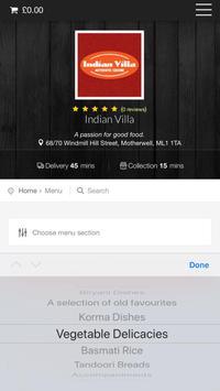 Indian Villa Motherwell screenshot 2
