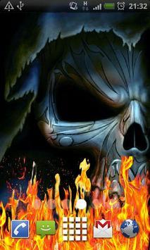Evil Skull Fire Flames LWP apk screenshot
