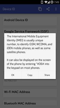 Device ID screenshot 1