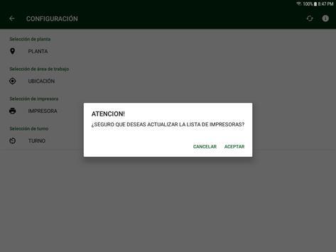 Control de Ensamble y Ope Secundarias screenshot 1