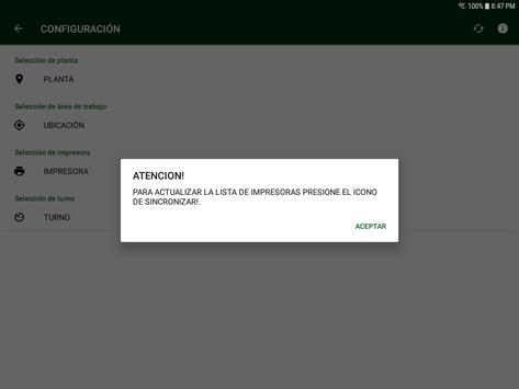 Control de Ensamble y Ope Secundarias screenshot 2