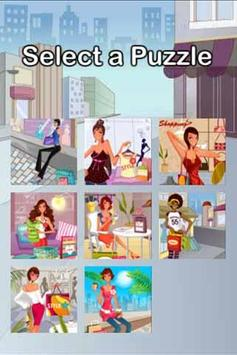 Shopping Girl Puzzle poster
