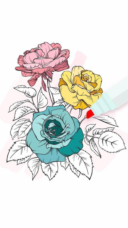 Flowers Coloring Books for Android - APK Download