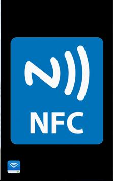 Mobile Phone setting (NFC) poster