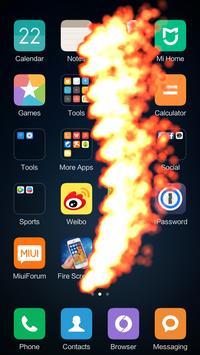 Fire Screen Effect Prank poster