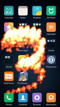 Fire Screen Effect Prank apk screenshot