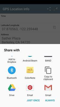 GPS Location - Share address apk screenshot