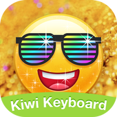Kiwi Keyboard Glitter Golden emoji icon