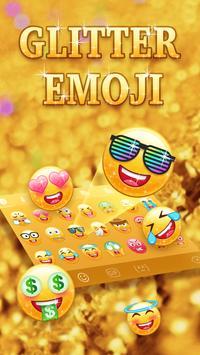 Kiwi Keyboard Glitter Golden emoji poster
