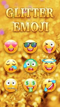 Kiwi Keyboard Glitter Golden emoji screenshot 2