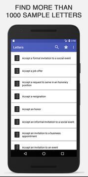 Sample Letters Offline poster
