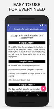 Sample Letters Offline screenshot 2