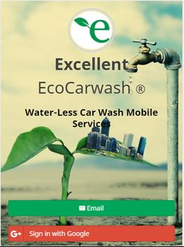 Excellent Eco Carwash poster