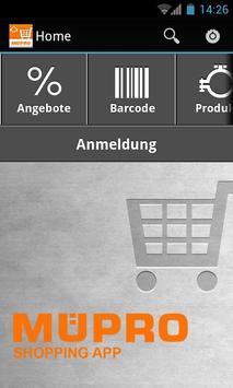MÜPRO Shopping App poster