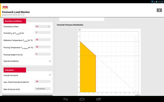 PERI Formwork Load Calculator screenshot 2