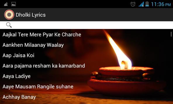 Dholki Lyrics screenshot 4