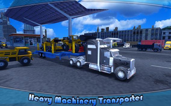 Heavy Machinery Transporter Truck Simulator poster