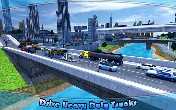 Heavy Machinery Transporter Truck Simulator screenshot 10