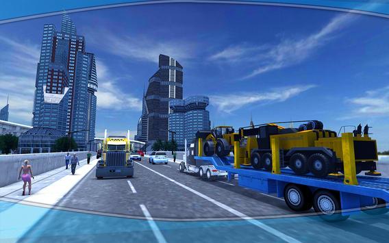 Heavy Machinery Transporter Truck Simulator screenshot 1