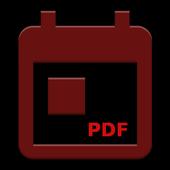 Backup Calendar Events To PDF icon