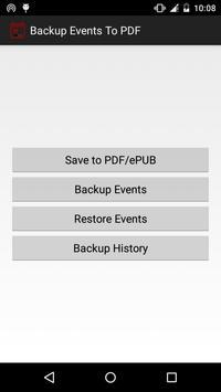 Backup Calendar Events To PDF poster