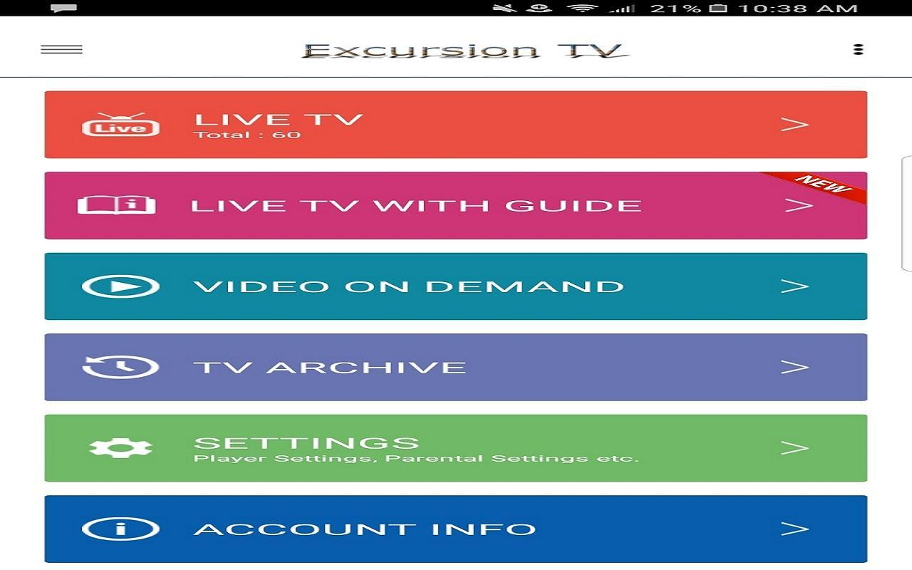 Excursion TV for Android - APK Download