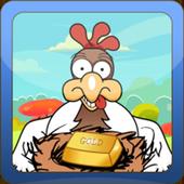 Golden chicken icon