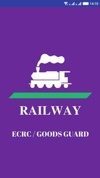 RRB ECRC - Goods GUARD (GG) poster