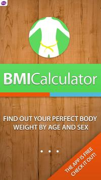 BMI Calculator: weight loss poster
