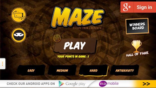 Maze apk screenshot