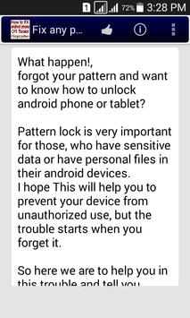 Fix any pattern lock easily. poster