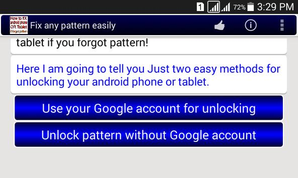 Fix any pattern lock easily. screenshot 1