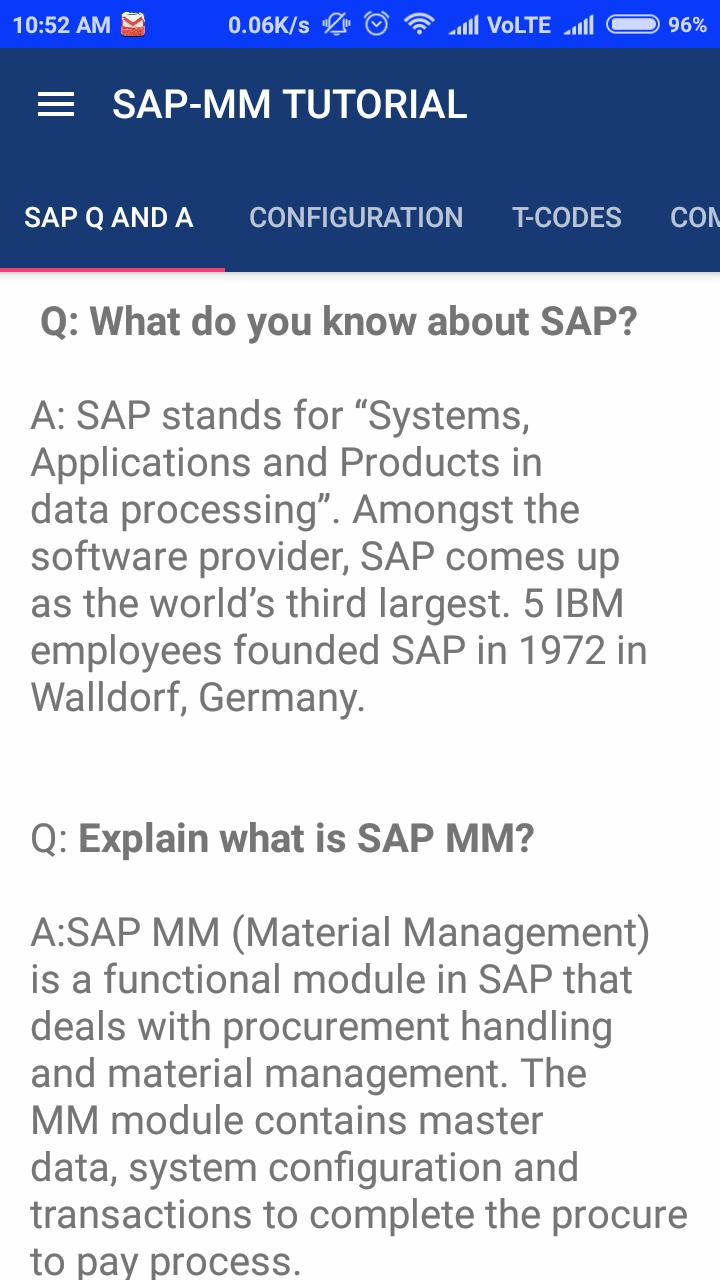 SAP MM for Android - APK Download