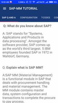 SAP  MM screenshot 1