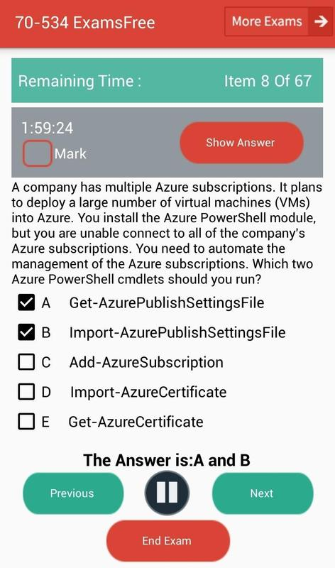 Ef 70 534 Microsoft Exam Apk Download Free Education App For