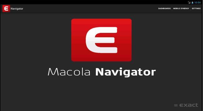 Exact Macola Mobile Navigator poster