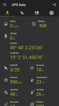 GPS البيانات تصوير الشاشة 9
