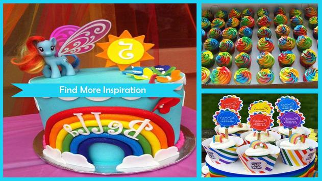 Modern Double Rainbow Cupcake For Birthday Party screenshot 1