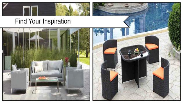 Modern Outdoor Furniture Ideas poster