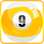 Yellow 8 ball icon
