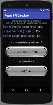 Retina Calculator apk screenshot