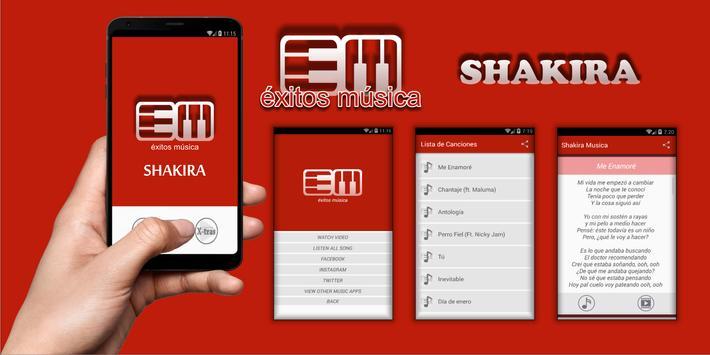 Shakira - Me Enamoré Musica poster