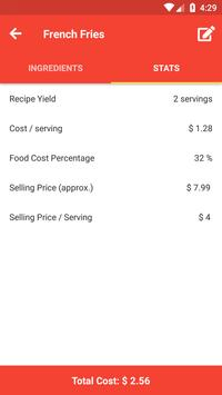 Food Cost Calculator screenshot 2